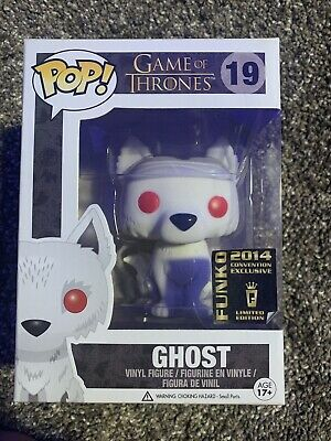 Flocked Ghost GOT Game of Thrones Funko Pop Figure Convention Exclusive 2014