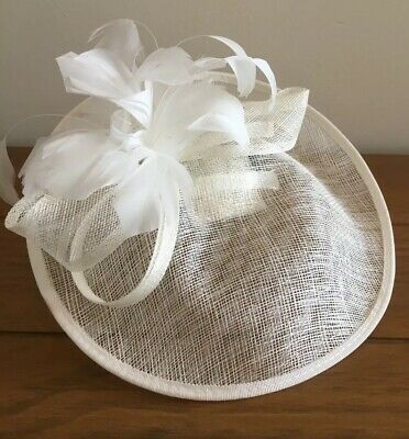 Debenhams Debut Lamour Saucer Fascinator, Ivory, One Size, Used Once
