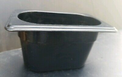 "Rubbermaid Ninth Size Multi-Use Hot Food Pan,1/9 x 4"" .92 Quart, Black PRE OWNED"