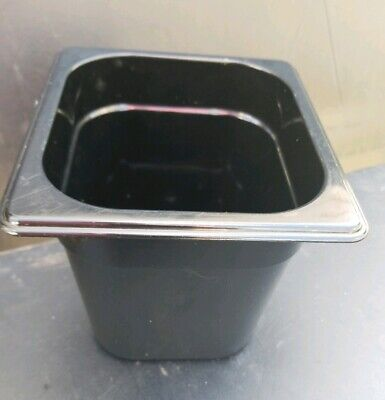 """Rubbermaid Sixth Size Multi-Use Hot Food Pan,1/6 x 6"""" 2.5 Quart, Black PRE OWNED"""
