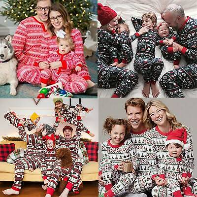 Christmas Family Elf Pyjamas Pj's Kids Boys Girls Mum Dad Nightwear Payamas Xmas
