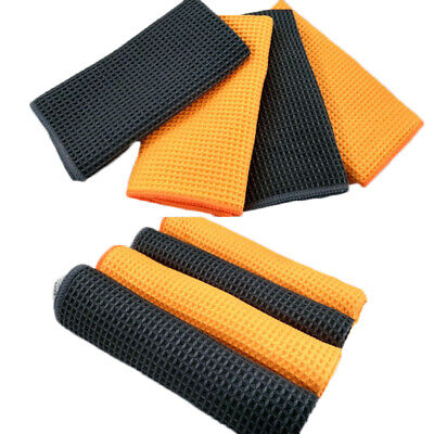 Home Kitchen Car Wash Microfiber Towels Cleaning Drying Water Absorbent Cloths