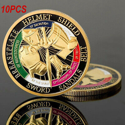 10pcs Put on the Armor of God Commemorative Challenge Coin Collection Gift New E