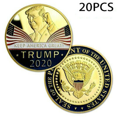 20 X Donald Trump 2020 Keep America Great Commemorative Challenge Eagle Coin EN