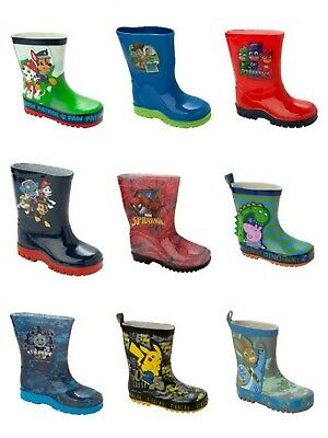 Boys Official Character Wellies Wellington Rain Snow Welly Boots Uk Size 5-2