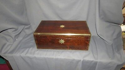 A QUALITY 19th CENTURY VICTORIAN ROSEWOOD WRITING SLOPE-SECRET DRAWERS