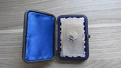 A VERY NICE 19th CENTURY GEORGE UNITE SILVER CARD CASE