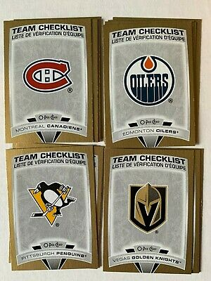 19-20 OPC O-PEE-CHEE Gold Glossy Team Checklist PICK FROM LIST