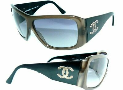 CHANEL 5079 Sunglasses Brown Black CC Logo Coco Luxury Women's Sunglasses