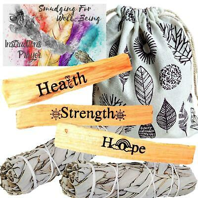 Palo Santo Engraved HEALING Smudge Refill Kit