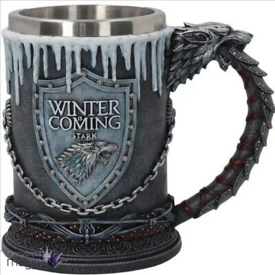 Game of Thrones House Stark Mug The Seven Kingdoms Goblet Winter is Coming Stain