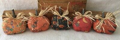 Primitive Ornies PUMPKINS HALLOWEEN Bowl Fillers Make Do's Tucks Prim Ornies