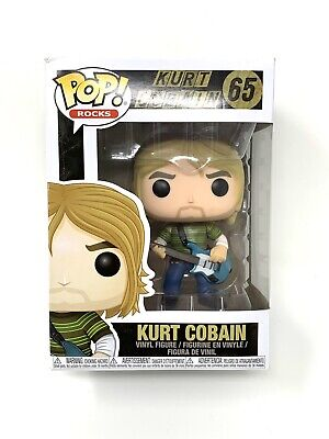 Funko Pop Kurt Cobain Striped Shirt #65 Vinyl Figure NIB