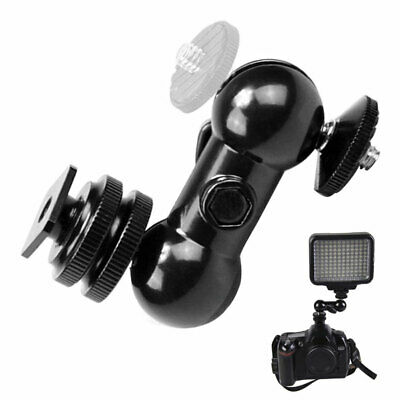 Double Ball Adapter Video Magic Clamp Tool Ballhead Arm Holder Mount Monitor