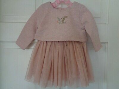 Next Girls Pretty Bunny Rabbit Party Dress - 0-3 Months