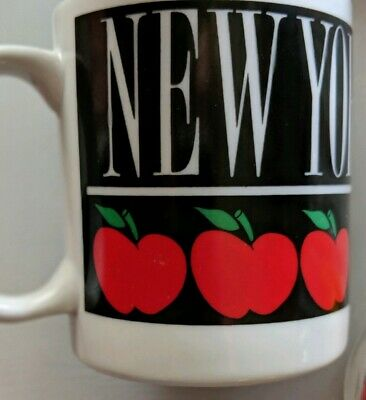 VINTAGE 1989 NEW YORK Coffee Mug Souvenir Cup BIG APPLE NYC Collector Paradies