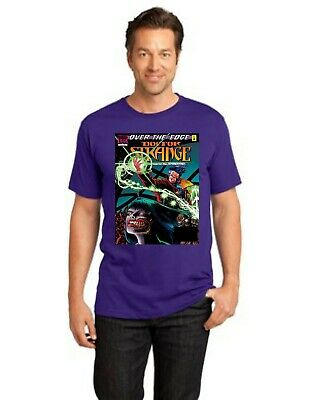 Doctor Strange Sorcerer Supreme In Over The Edge Men Crew T-Shirt Size XS To 4XL