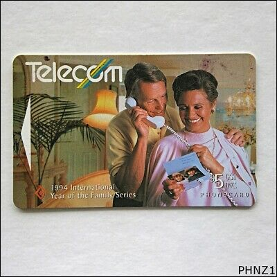 Telecom NZ 1994 International Year of the Family Series $5 Phonecard (PHNZ1)