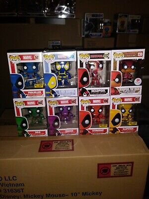 Funko Pop! Marvel Deadpool Lot of 8 (lot includes exclusives). Terror Solo...