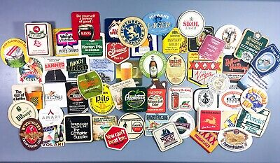 Vintage Bar Coasters Beer Advertising Drink Spill Cardboard Mixed Lot of 115
