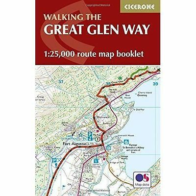 The Great Glen Way Map Booklet: 1:25,000 OS Route Mapping by Cicerone Press...