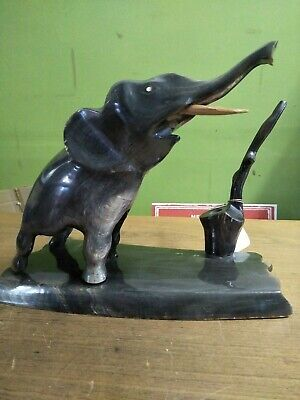 Vintage Elephant Desk Pen Holder