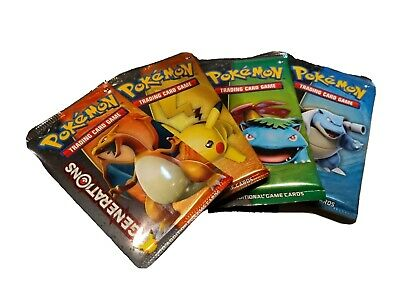 1x Generations Booster Pack 20th Anniversary - Pokemon Cards SEALED, UNWEIGHTED