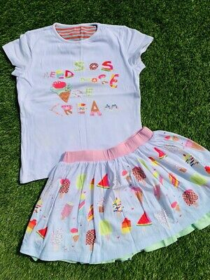 Oilily Girls Ice-cream Outfit 2 Piece, Age 8 & 10 Years Skirt Top VGC