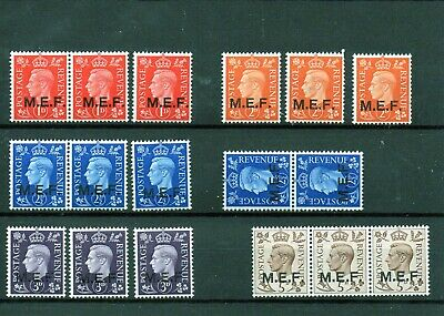 British Occupation of Italian Colonies Middle East Forces MNH1942 GB Stamps Optd