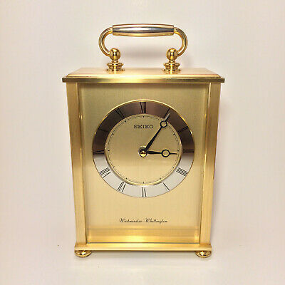 SEIKO Carriage Mantel Clock with Westminster & Whittington Chime