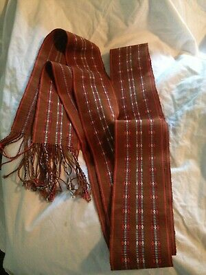 HANDWOVEN Narrow  Loom SOUTH AMERICAN SASH Belt  COTTON 106""