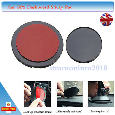 Universal Car Durable GPS Dashboard Adhesive Sticky Suction Cup Disc Disk Pad