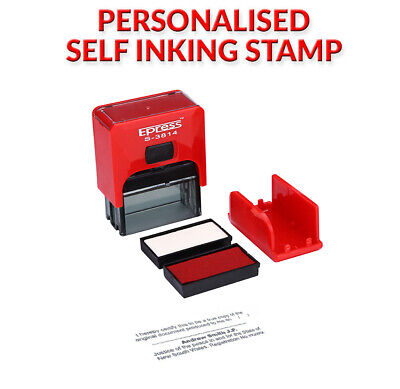 Personalised Self Inking Stamp - 38mm x 14mm