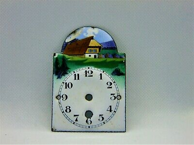 Antique Enamel Alarm Clock Front for parts or restauration