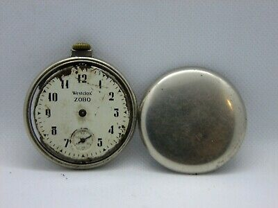 Antique Pocket Watch wESTCLOX zOBO Made in Canada for parts or restauration