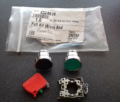Garland 4524676 Black Standby and Green Cancel Pushbuttons Kit