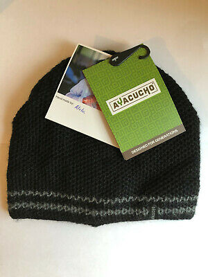 Ayacucho Hand Made Alpaca Wool Hat - Unrivalled Warmth - £27 Rrp - Bnwt