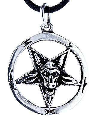 No. 54: Pentagram Baphomet Satan 925 Sterling Silver Pendant Goat's Head Ring