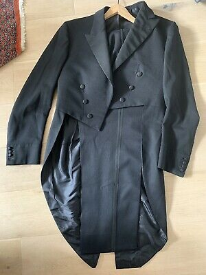 Vintage bespoke H. Huntsman & Sons Savile Row Tailcoat And Trousers size 40/42