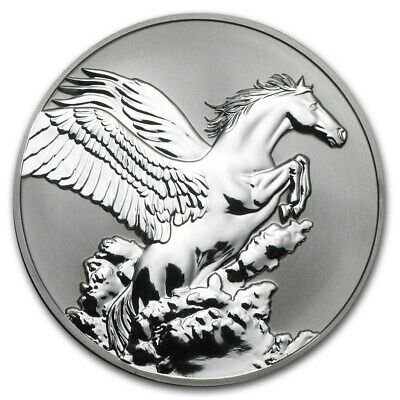 2014 Pegasus 1oz Silver Reverse Proof Tokelau Coin Creatures Of Myth and Legend