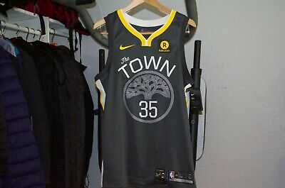 new style 756e7 ec560 NWT NIKE NBA Kevin Durant The Town Golden St Warriors Authentic Jersey Mens  $115