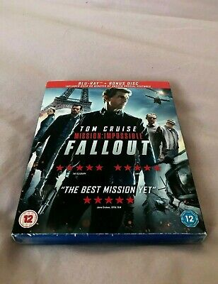 Mission Impossible - Fallout Blu Ray (2 Disc New And Sealed) Tom Cruise