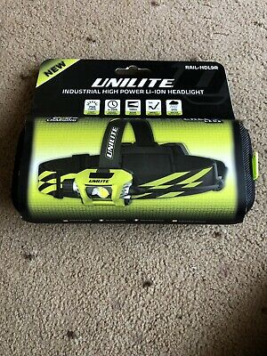 Unilite RAIL-HDL9R LED Rechargeable Head Torch 750 Lumens
