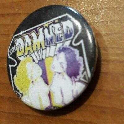 25mm BUTTON BADGE PUNK ROCK PIN THE DAMNED NEW ROSE RAT SCABIES SMASH IT UP cd