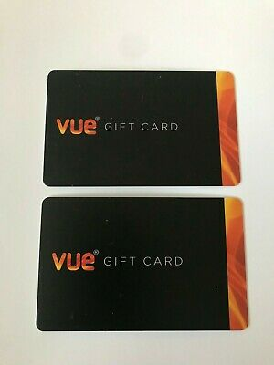 Vue Cinema Gift Card - 2 X £10 Cards (Total £20 In All) Expires June 2020
