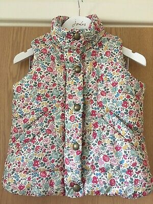 Joules Girls Ditsy Print Gilet Aged 3