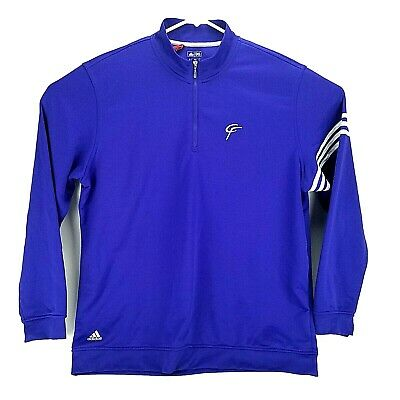 Adidas Golf Mens Purple XL Fit Climalite Long Sleeve 1/4 Zip Sweater Embroidered
