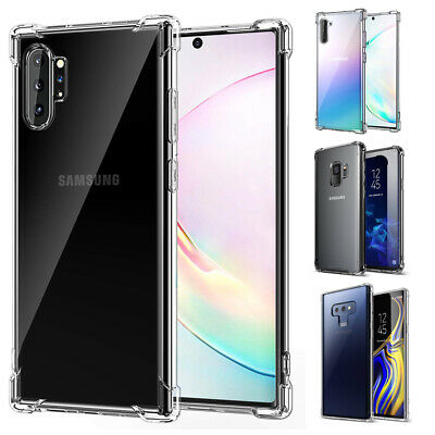 For Galaxy Note 10 Plus / Note 10 / S9 Plus Case ,Thin Flexible Clear TPU Cover