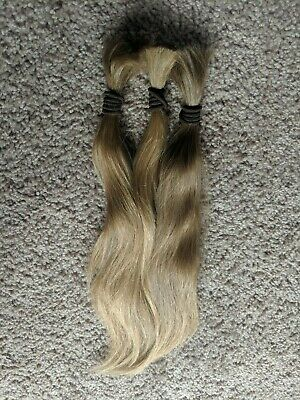 13 to 15 Inch SOFT Virgin Light Blonde Fine Wavy Human Hair Haircut Ponytail A41