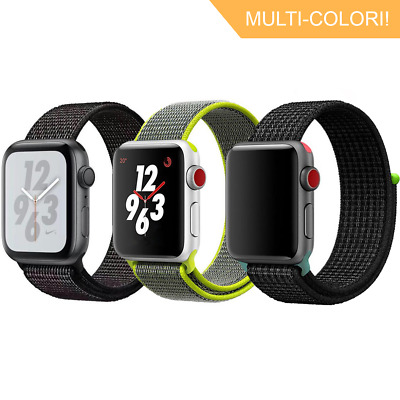 Nylon Sport Loop Cinturino Per Apple Watch